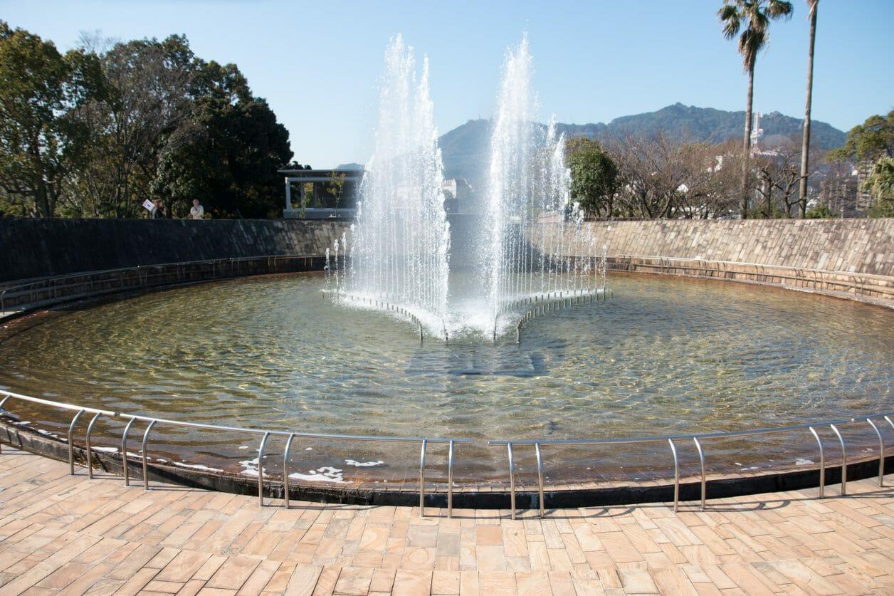 長崎平和公園の平和の泉