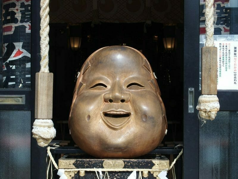 浅草鷲神社のなでおかめ