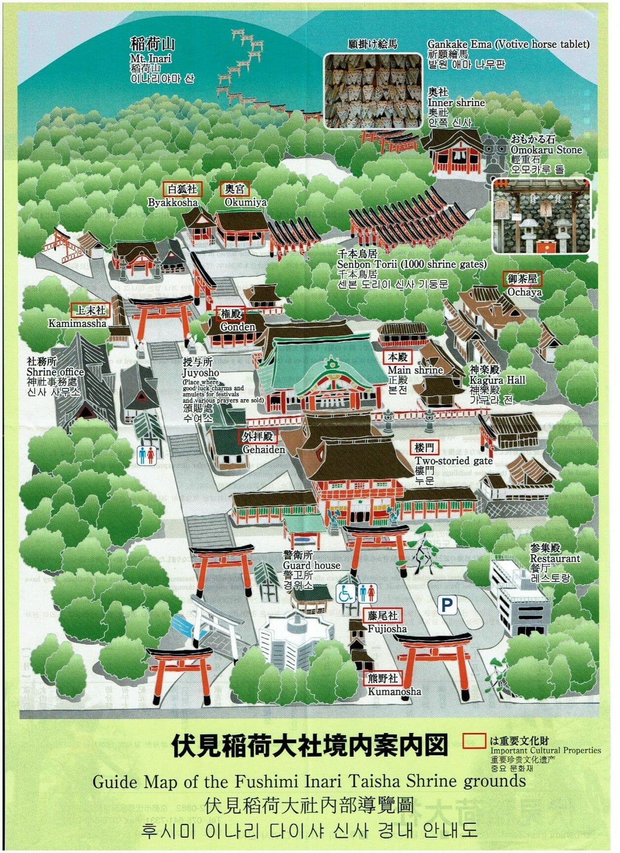 伏見稲荷大社の境内MAP