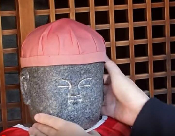 清水寺の善光寺にある首振り地蔵