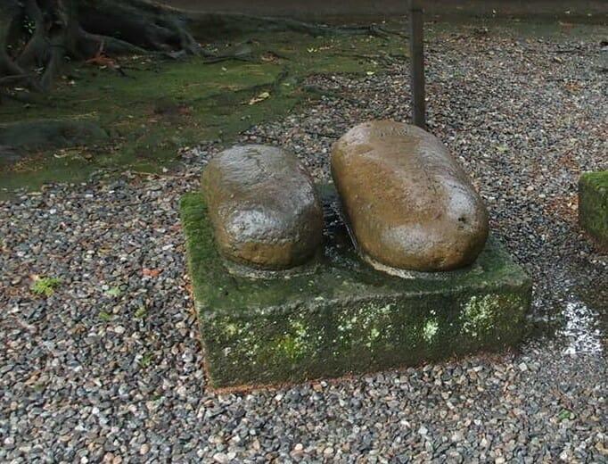金沢のパワースポット尾山神社の健康のシンボルさし石