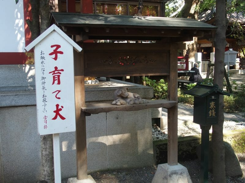 田無神社の子育て犬