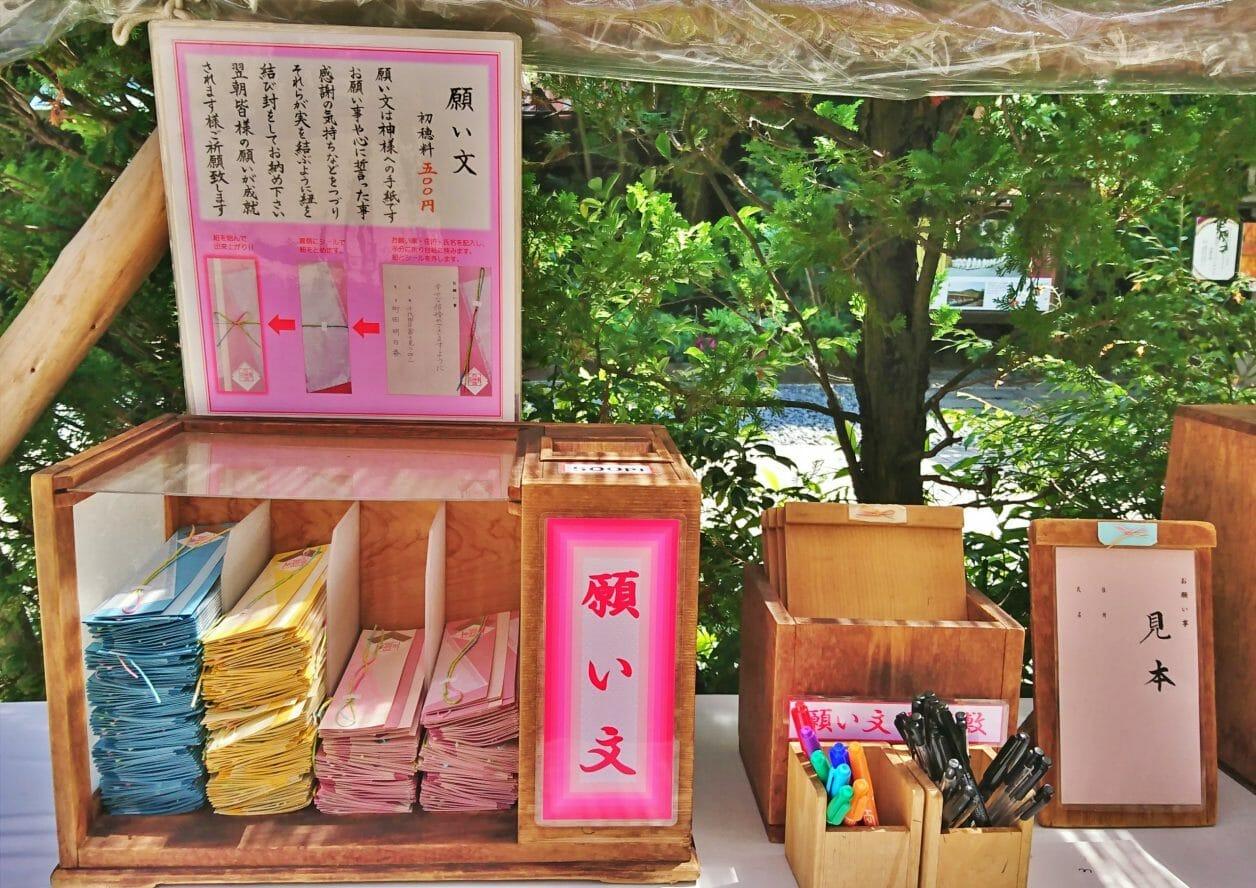 東京大神宮の願い文