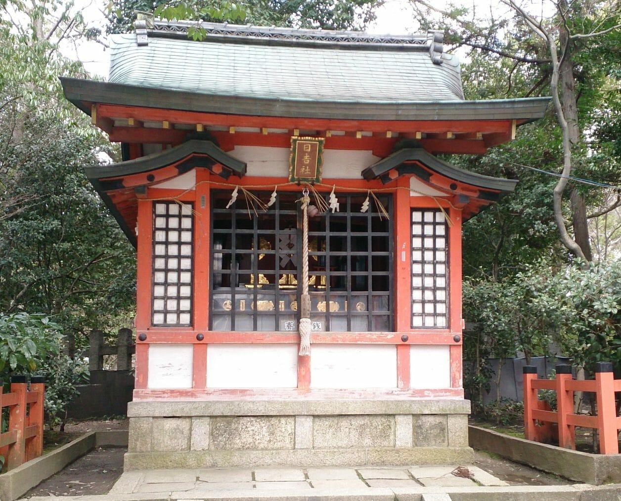 八坂神社の鬼門にある日吉社