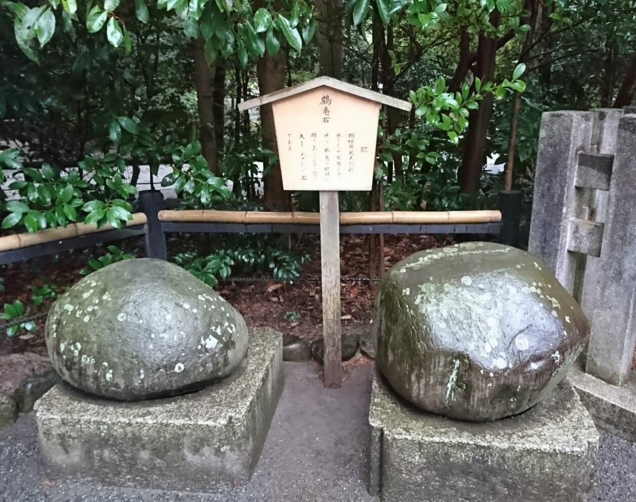 鶴岡八幡宮の鶴亀石