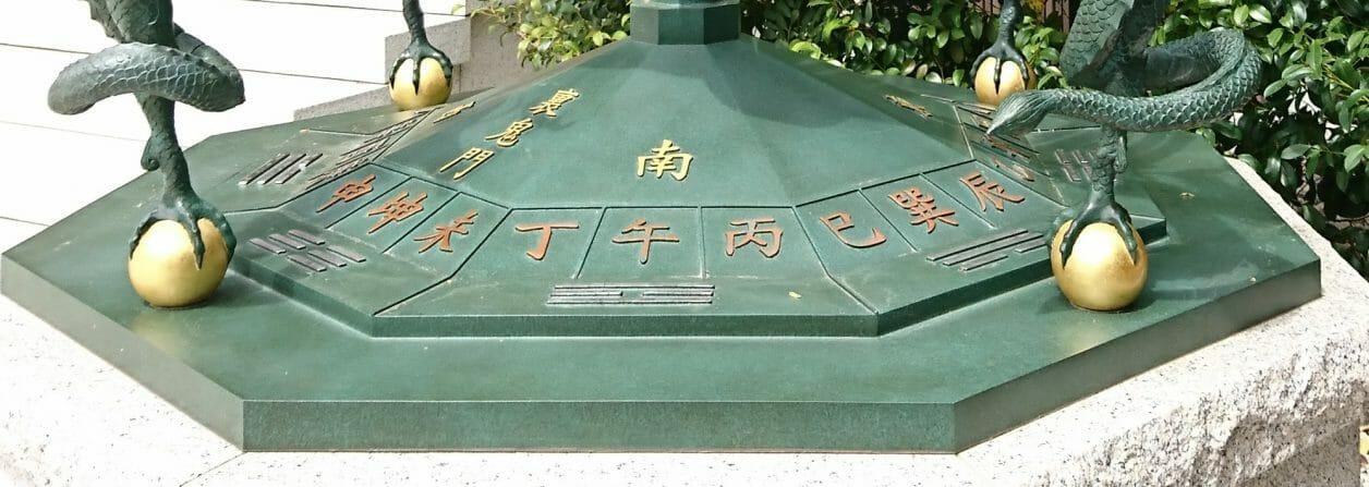 寒川神社の方位盤