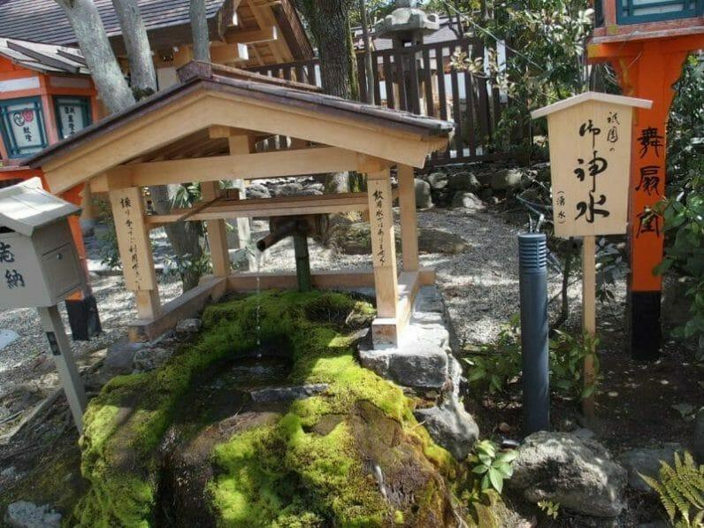 京都祇園の八坂神社のご神水