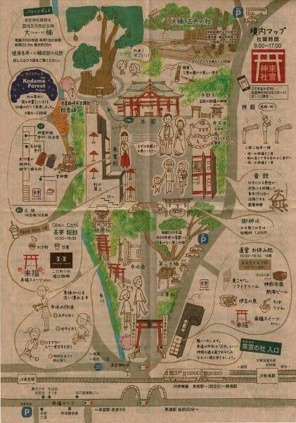 熱海来宮神社の地図