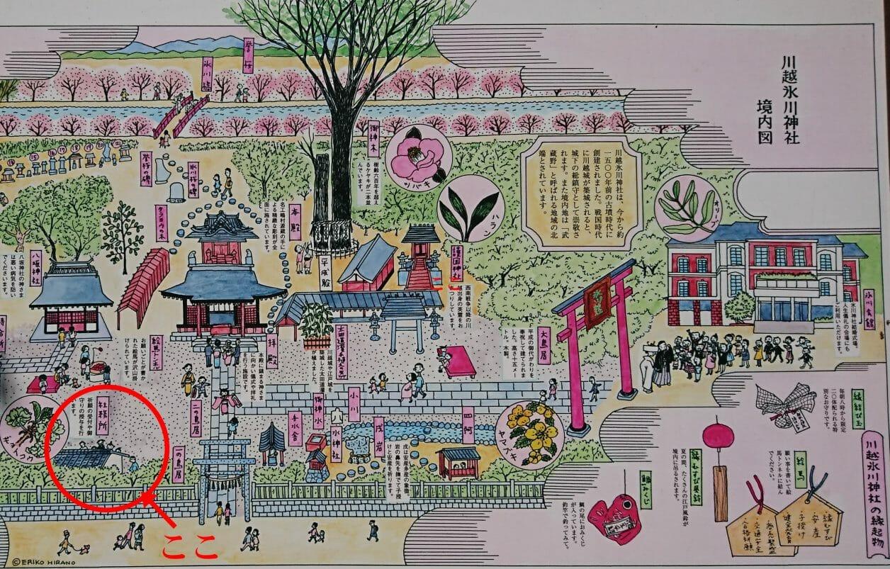 川越氷川神社の社務所の場所