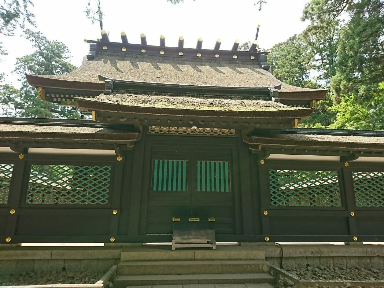 香取神宮のご本殿の真後ろ