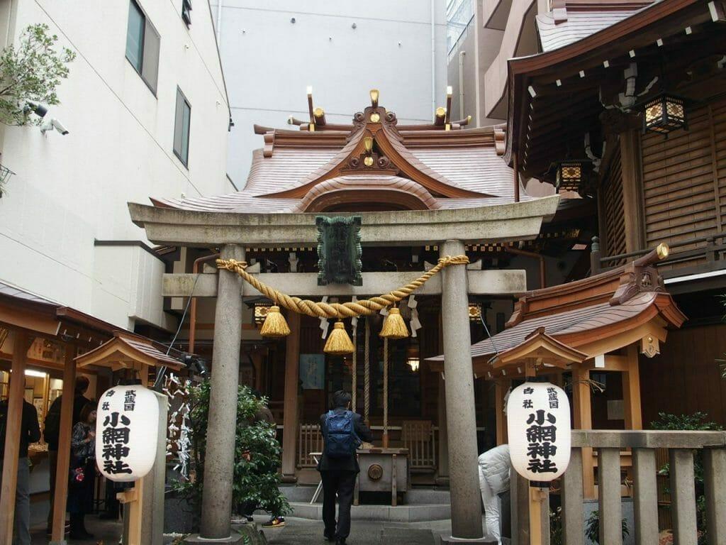 日本橋七福神の福禄寿様がいらっしゃる小網神社