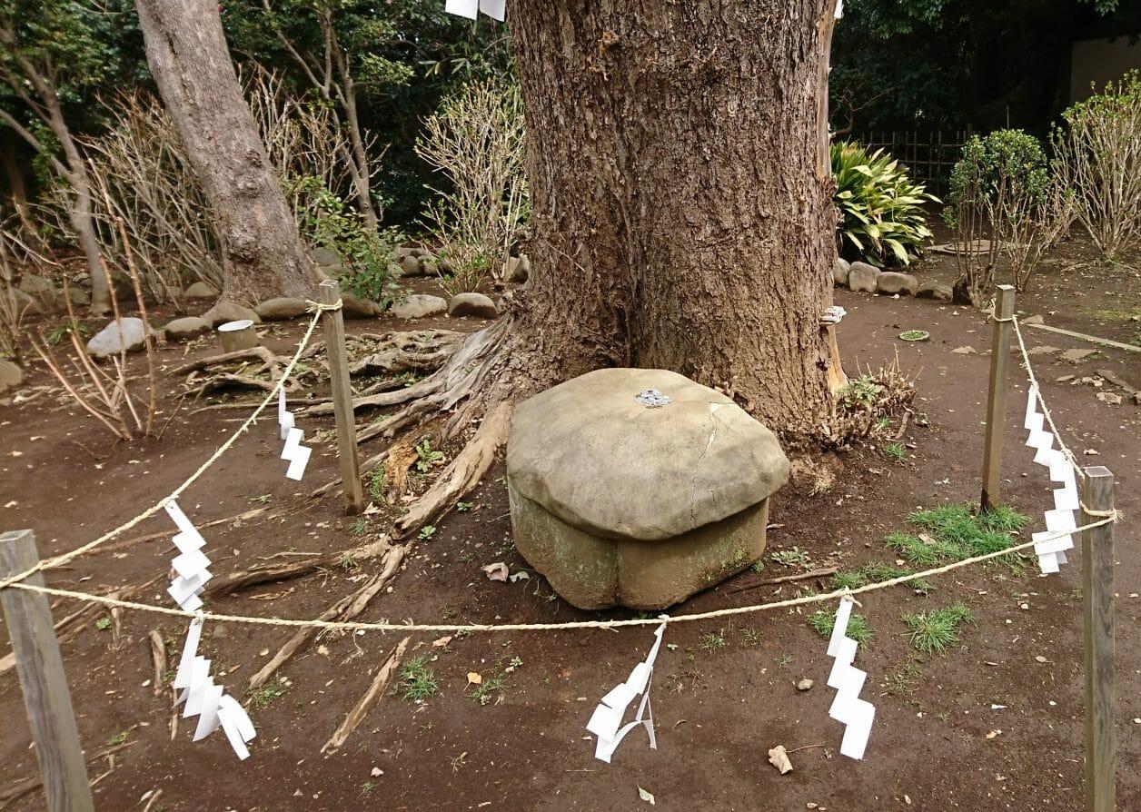 江ノ島神社の奥津宮の亀石