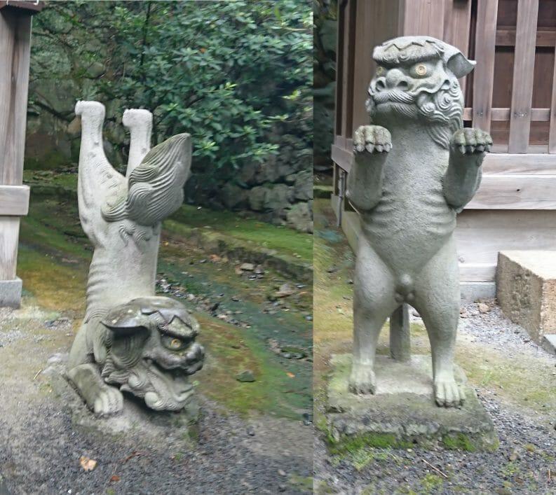 長崎諏訪神社の祓戸神社の狛犬