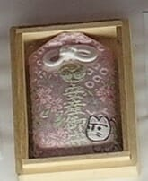 田無神社の箱入り安産のお守り