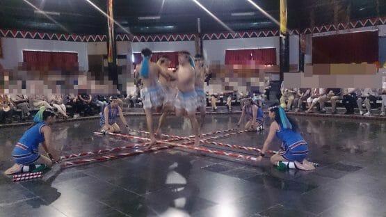 花蓮の先住民族阿美文化村の民俗ダンス