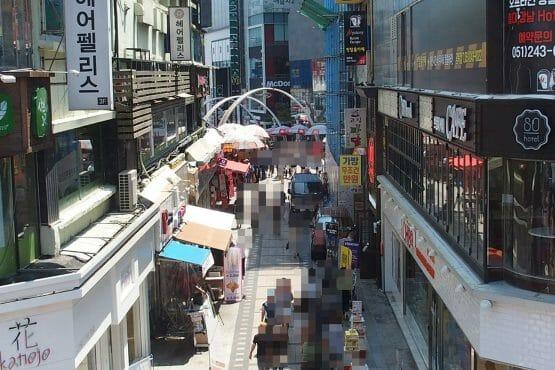 釜山の通り