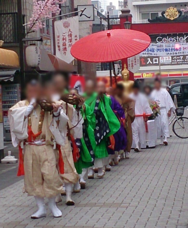 深川不動堂の花祭り