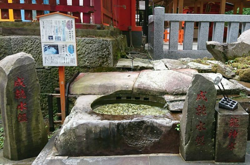 箱根神社にある九頭龍神社新宮の龍神水