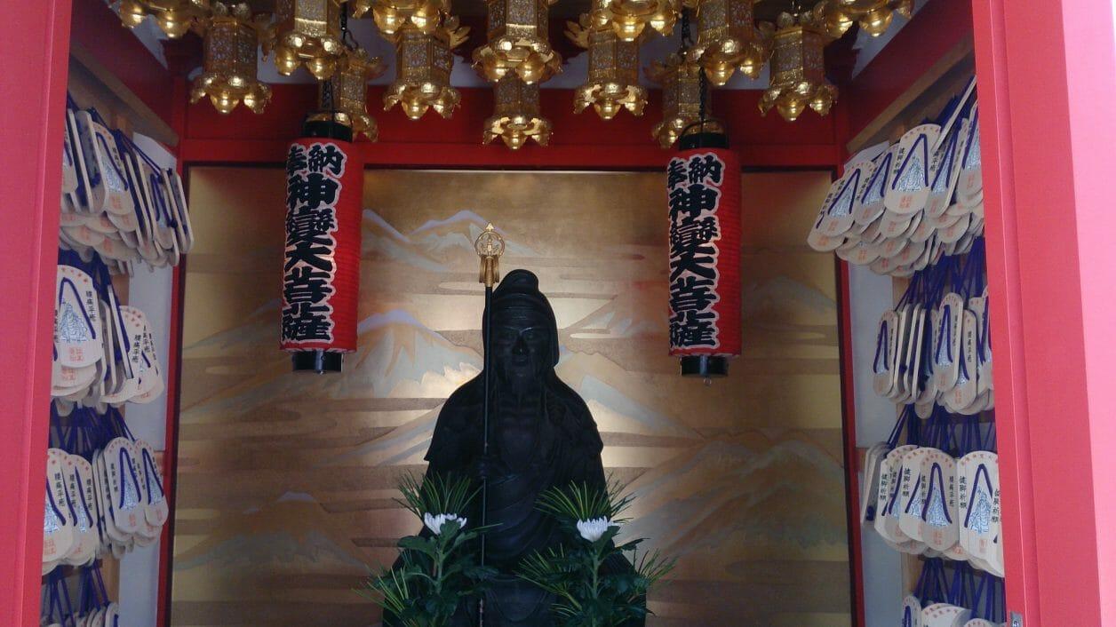早稲田の放生寺のある足腰凶刃がご利益の神変大菩薩