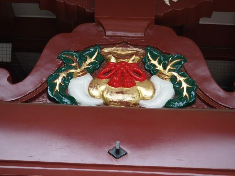 浅草の待乳山聖天で繁栄のシンボルになっている巾着