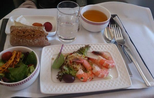 イベリア航空ビジネスクラスの洋食の機内食