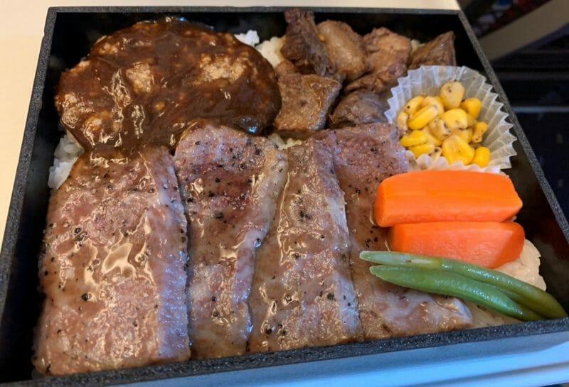 松川弁当店の米沢牛牛づくし弁当を東京駅の駅弁屋祭で買いました