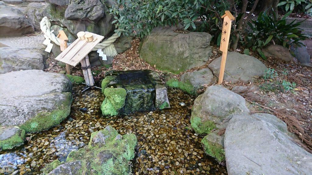 川越氷川神社のお水取り