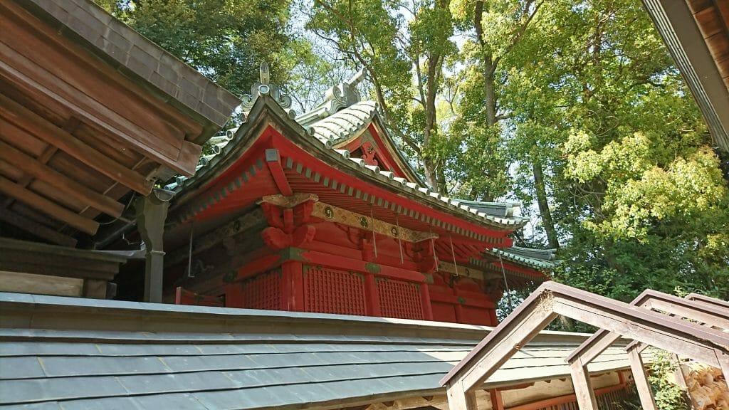川越氷川神社の境内にある八坂神社