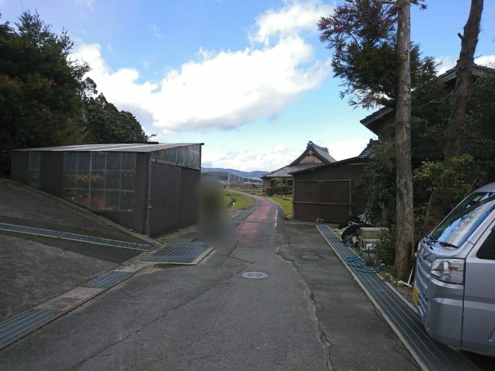 白鬚神社から近江高島駅江の帰り道