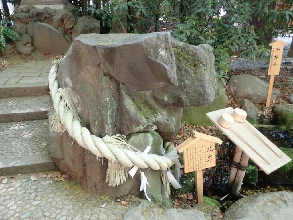 川越氷川神社で安産・子宝のご利益がある戌岩