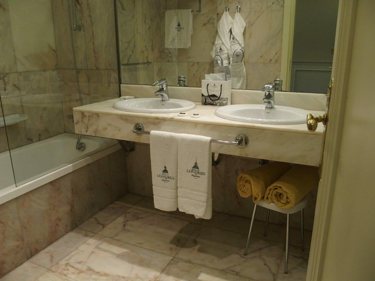 サンセバスチャンのホテルロンドレスアメニティ
