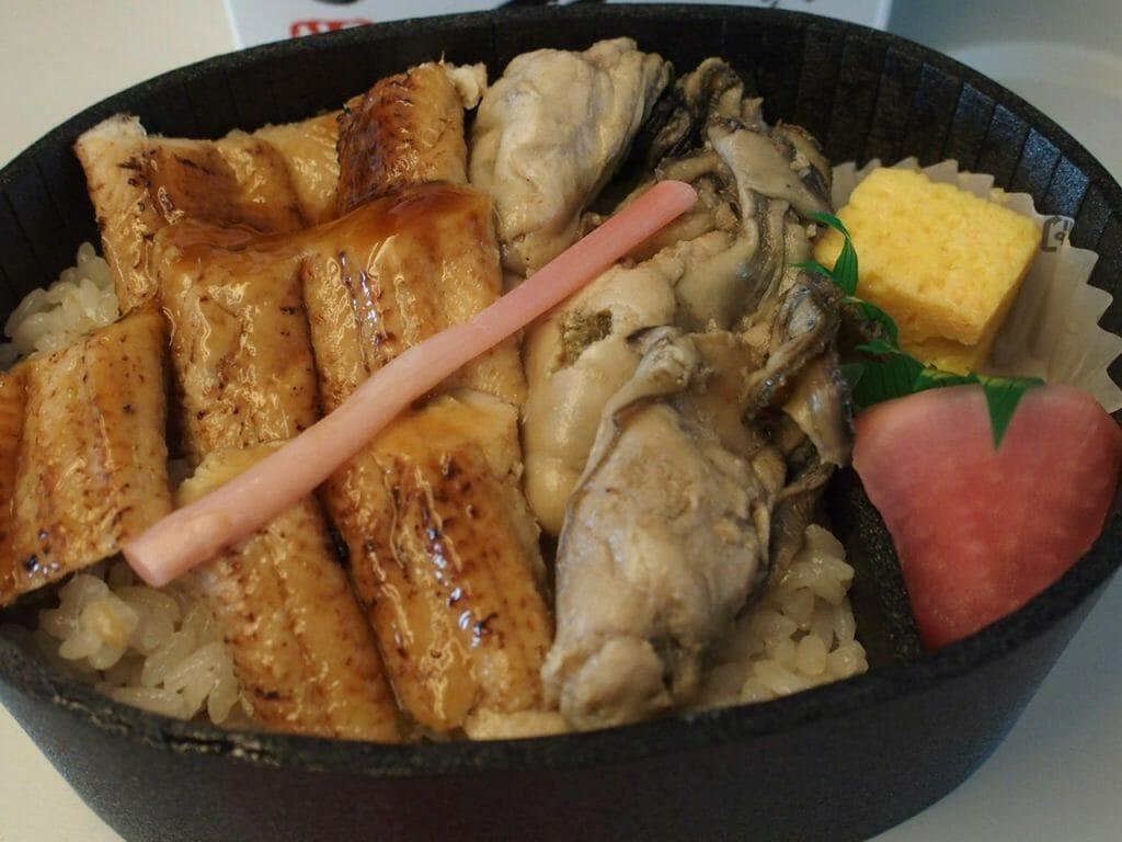牡蠣と炙り煮あなご弁当|こばやし