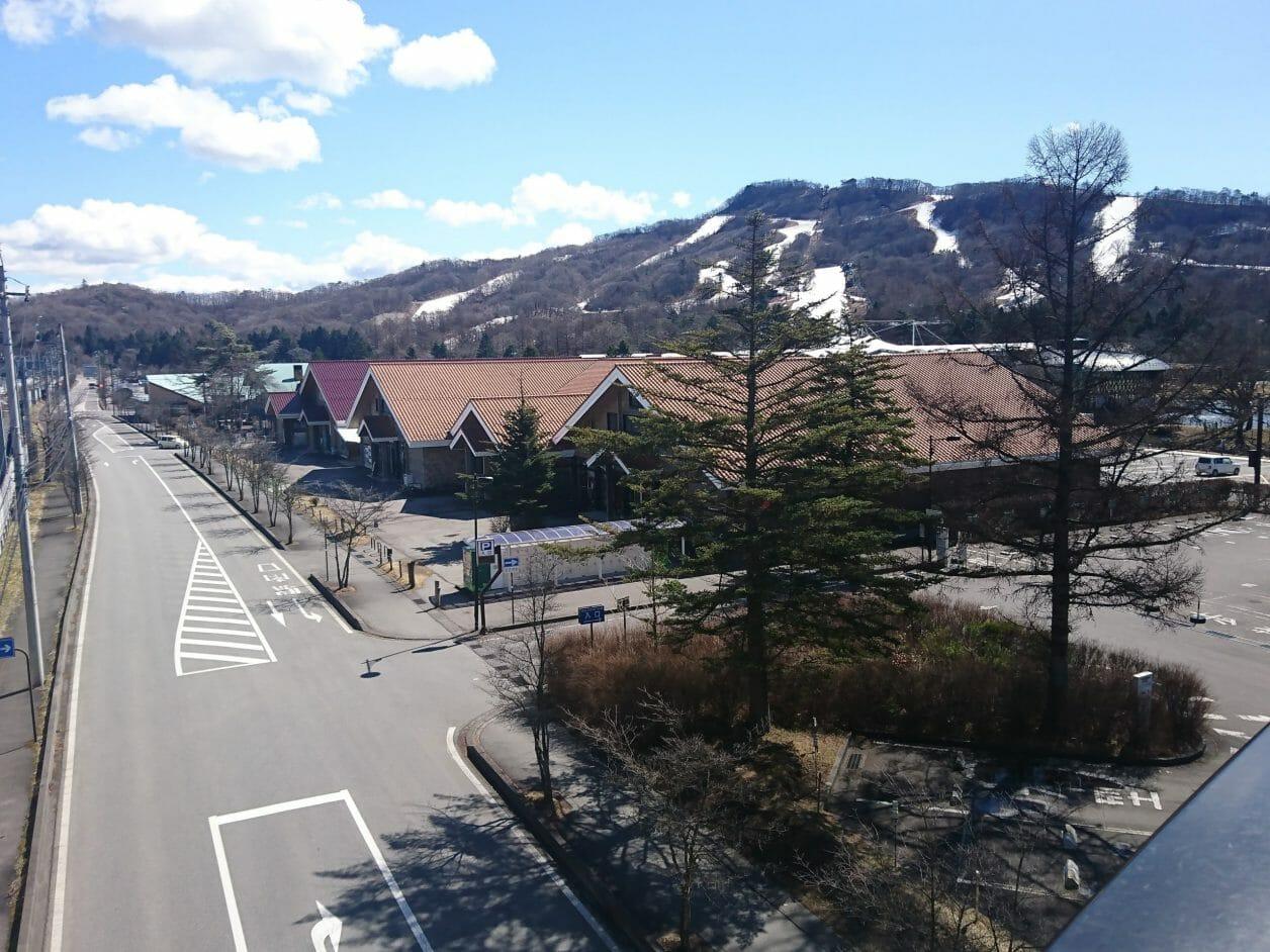 軽井沢駅から見える景色