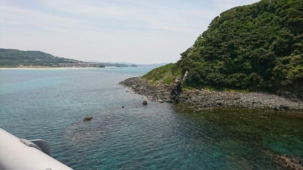 角島大橋から西長門リゾートを見る