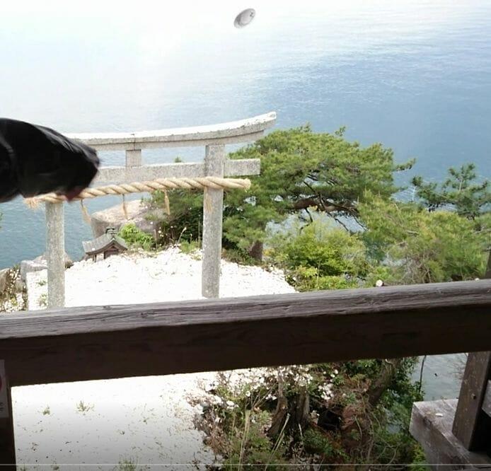 竹生島の都久夫須麻神社にある竜神拝所