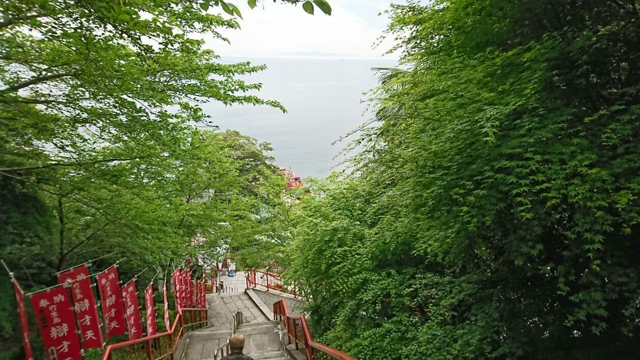 竹生島宝厳寺から都九夫須麻神社へと向かう道のり