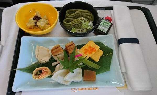 ルフトハンザ・ビジネスクラスの和食