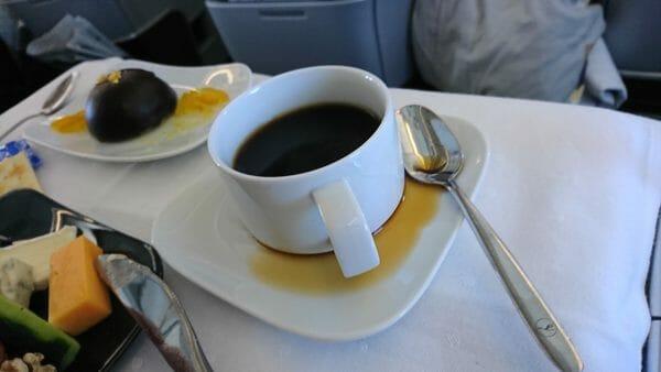 日本発ルフトハンザビジネスクラスの機内食