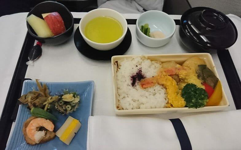 ルフトハンザビジネスクラスの機内食