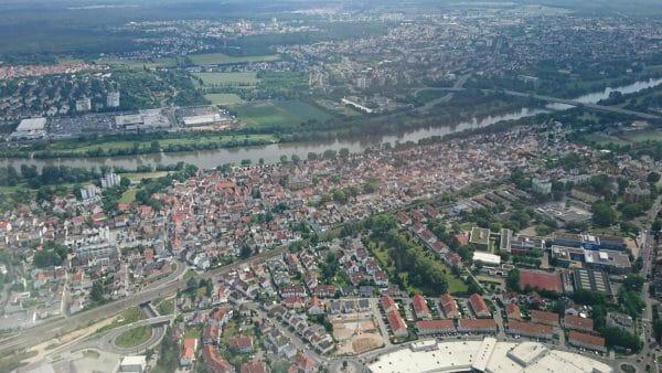 ルフトハンザから見えたドイツの街並み