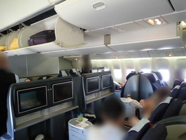 ユナイテッド航空ビジネスクラス