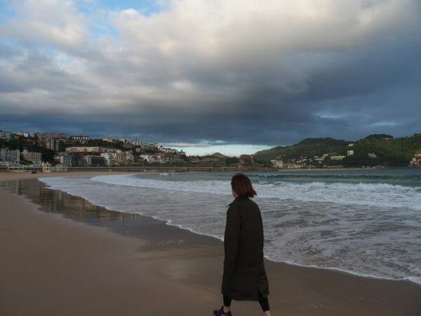 スペインサンセバスチャンの海岸
