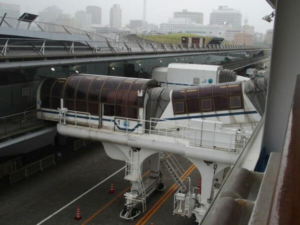 ダイヤモンドプリンセスが横浜港に帰港