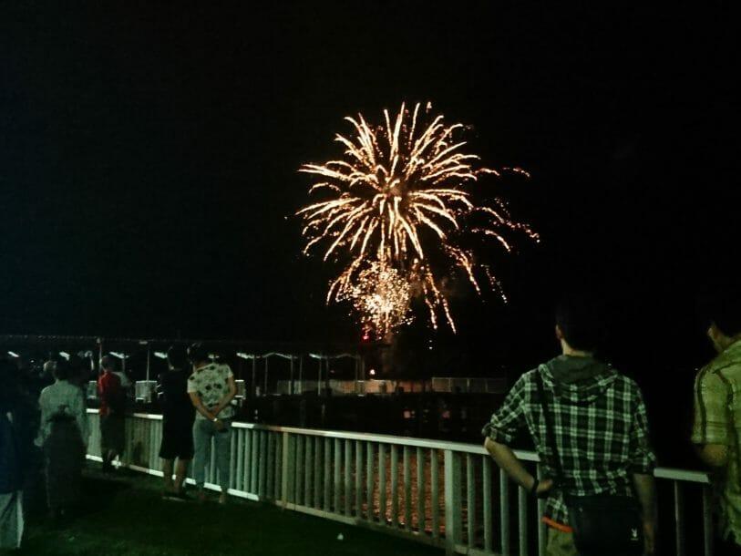ポイントバケーション洞爺湖からすぐ。花火大会が開催されます。