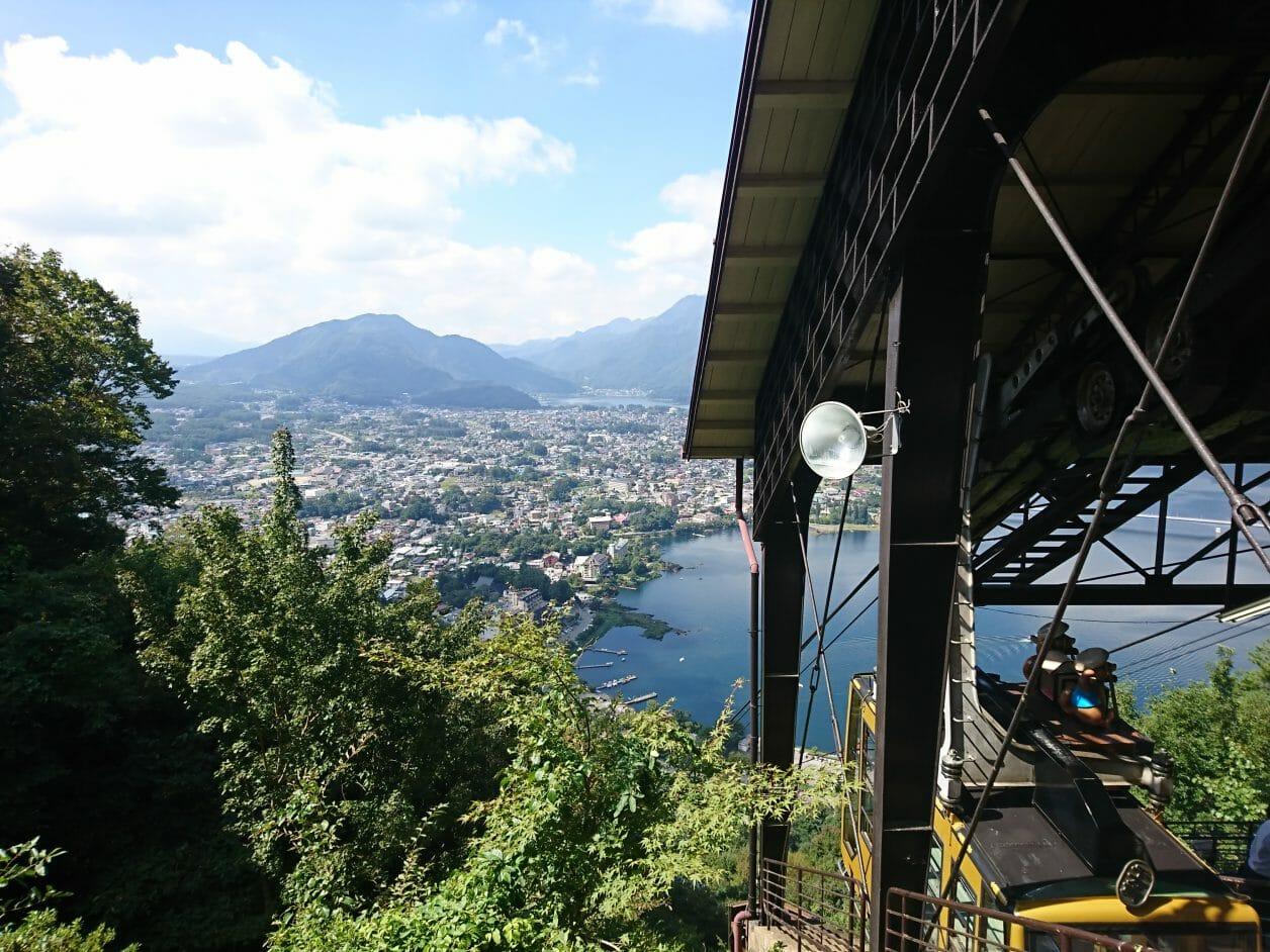 河口湖の富士山パノラマロープウェイ