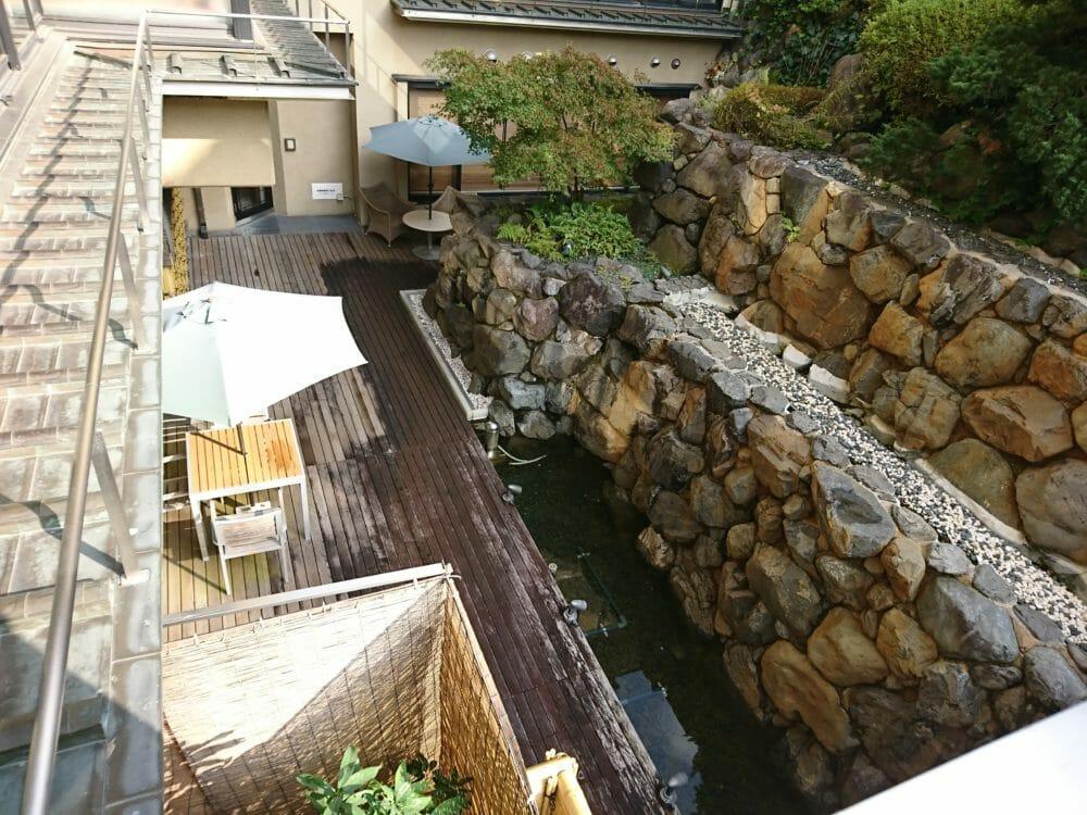 ポイントバケーション京都岡崎の中庭