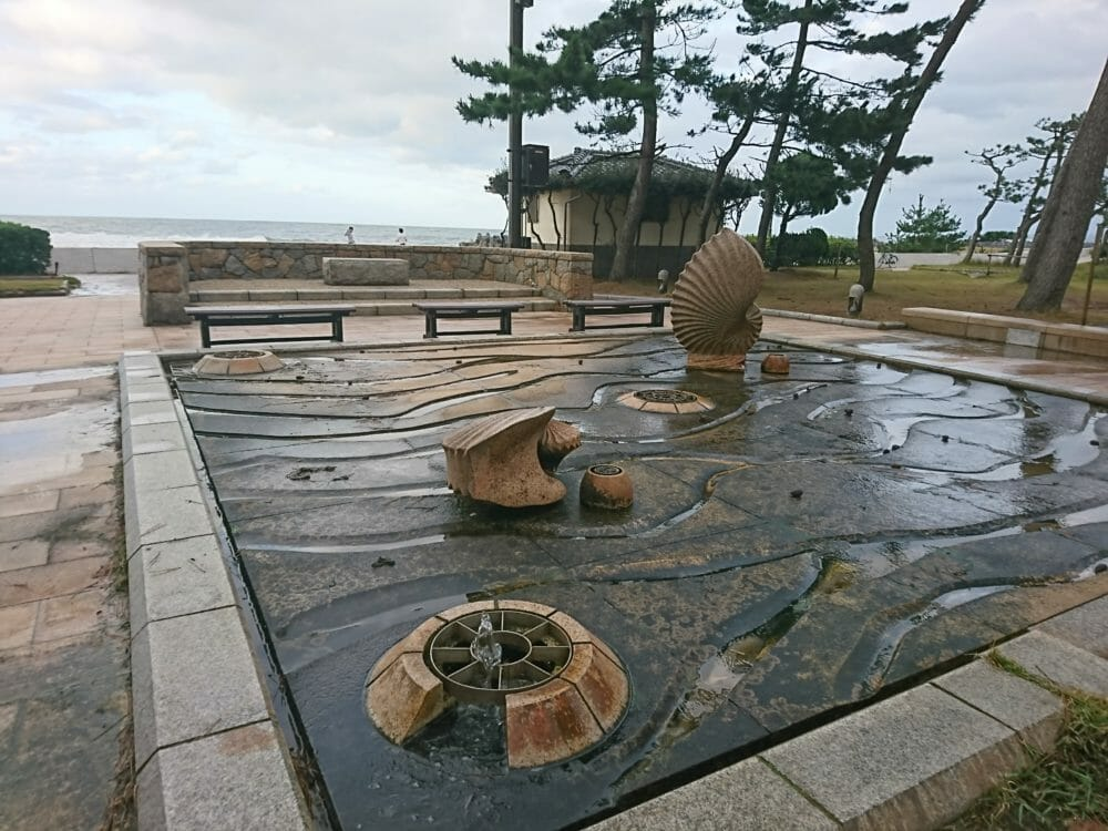 皆生温泉の海水浴場
