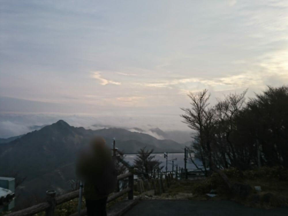 御在所岳山頂で見えた雲海