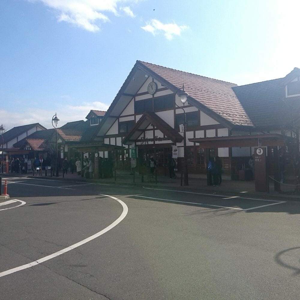 特急富士回流の終点河口湖駅