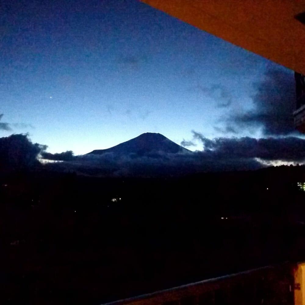 ポイントバケーション山中湖から見えた富士山